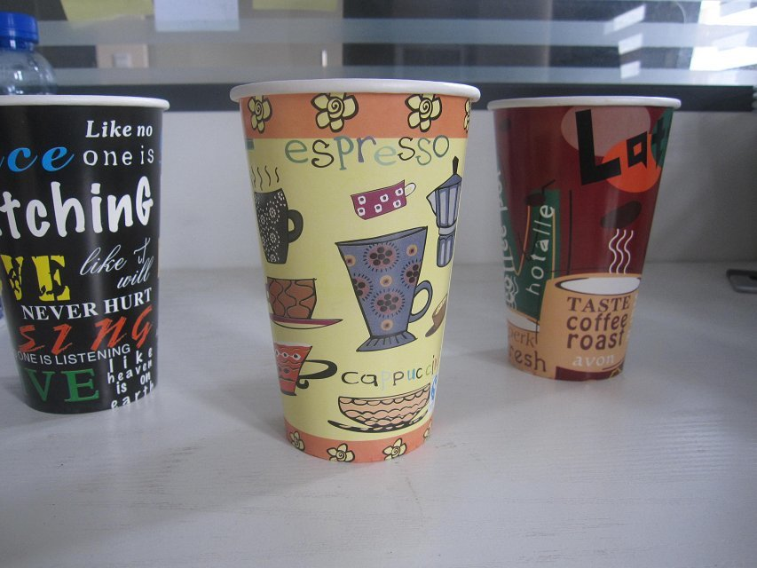 济南一次性彩印纸杯咖啡杯奶茶杯豆浆杯