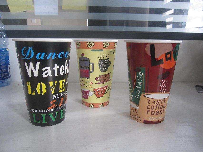 哈尔滨一次性彩印纸杯咖啡杯奶茶杯豆浆杯